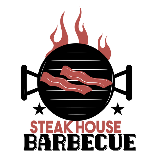 Steak house bbq grill logo Transparent PNG