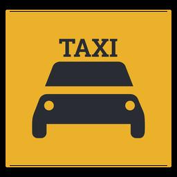 Signo de icono de taxi
