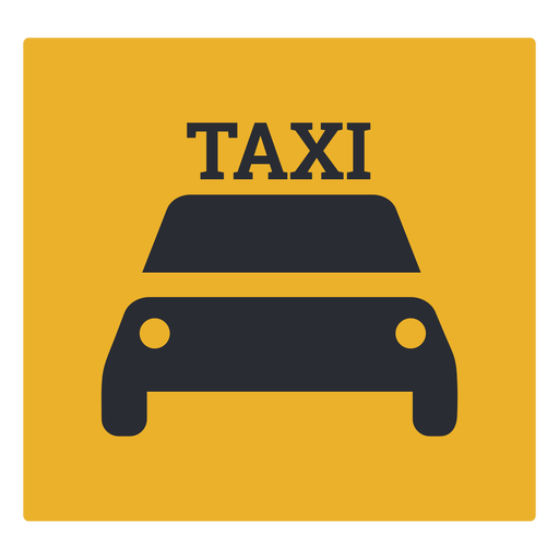 Taxi icon sign