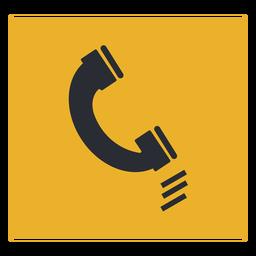 Sinal de ícone de telefone