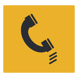 Telephone icon sign