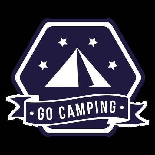 Tent go camping camping hexagon badge Transparent PNG