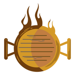 Draufsicht Grill in Brand