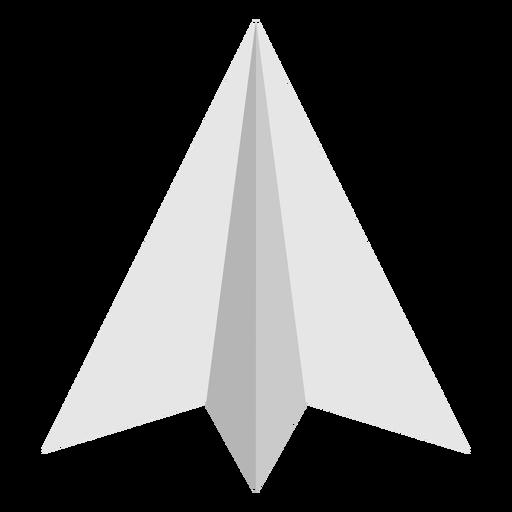 Avión de papel en ángulo superior plano