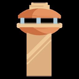 Icono de torre de control de tráfico naranja