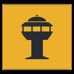 Señal de icono de torre de control de tráfico