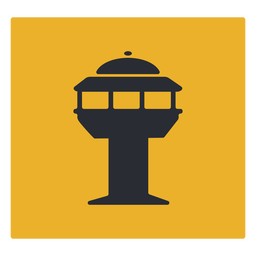 Traffic controll tower icon sign