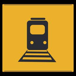 Sinal de ícone de trem