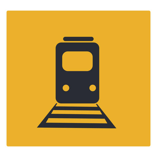 Signo de icono de tren Transparent PNG