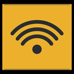 Señal de icono de terminal de viaje de señal wifi de onda