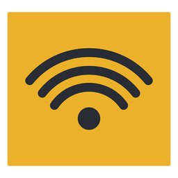 Wave wifi signal travel terminal icon sign