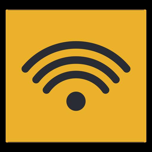 Señal de icono de terminal de viaje de señal wifi de onda Transparent PNG