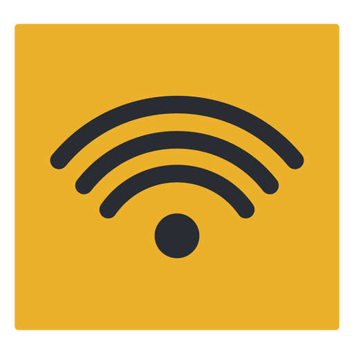 Wave wifi signal travel terminal icon sign Transparent PNG