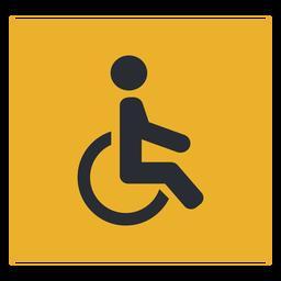 Signo de icono de discapacidad en silla de ruedas