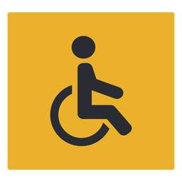 Wheelchair handicap icon sign