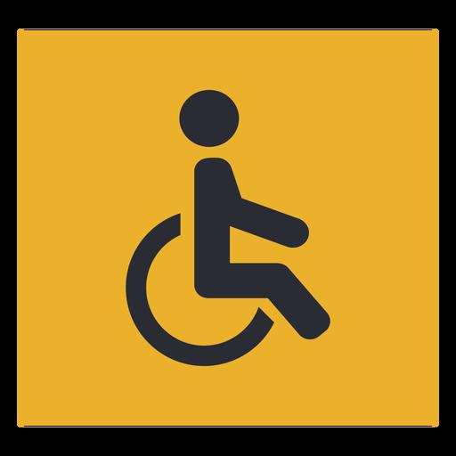 Signo de icono de discapacidad en silla de ruedas Transparent PNG