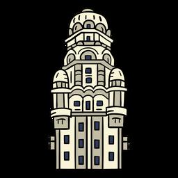 Uruguay edificio palacio salvo dibujado a mano