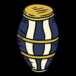 Candombe do Uruguai desenhado à mão
