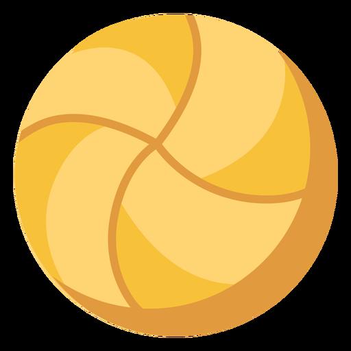 Volleyball ball flat