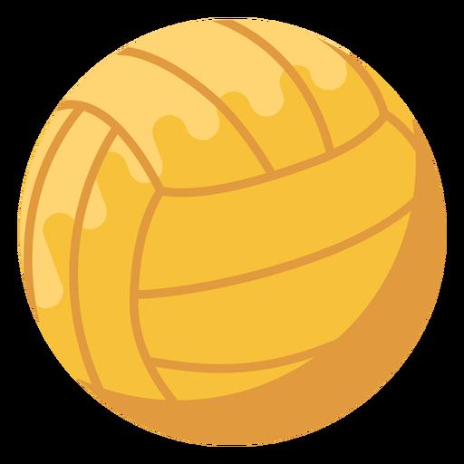Waterpolo ball flat