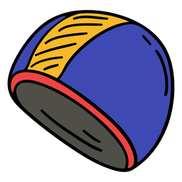 Waterpolo cap hand drawn
