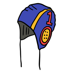 Waterpolo cap straps hand drawn
