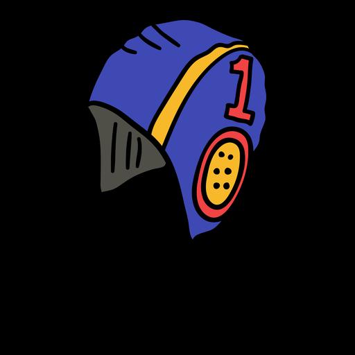 Hand gezeichnete Wasserball-Kappenbänder
