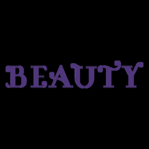 Letras de belleza del día de la mujer Transparent PNG