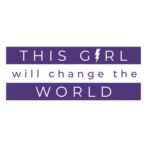 Womens day change world lettering Transparent PNG