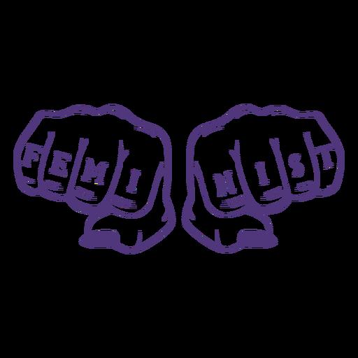 Womens day feminist lettering