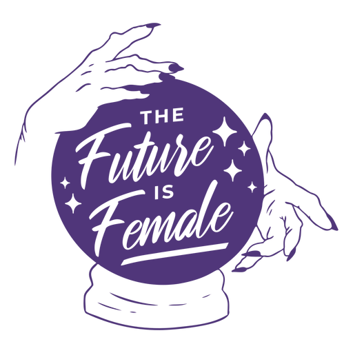 Womens day future female lettering Transparent PNG