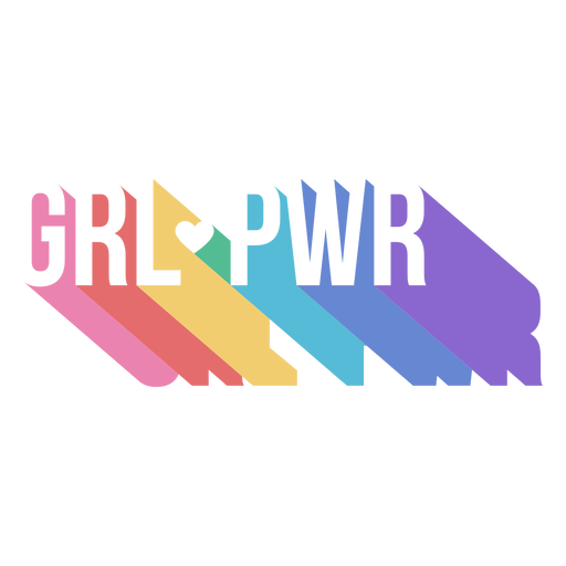 Womens day girl power lettering Transparent PNG
