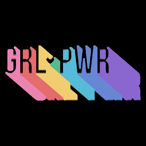 Womens day girl power lettering