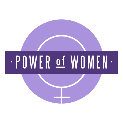 Womens day power women lettering Transparent PNG