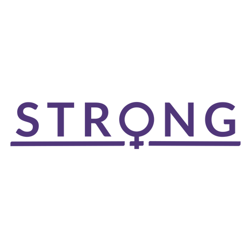 Womens day strong lettering Transparent PNG