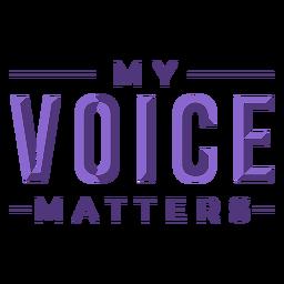 La voz del día de las mujeres importa letras