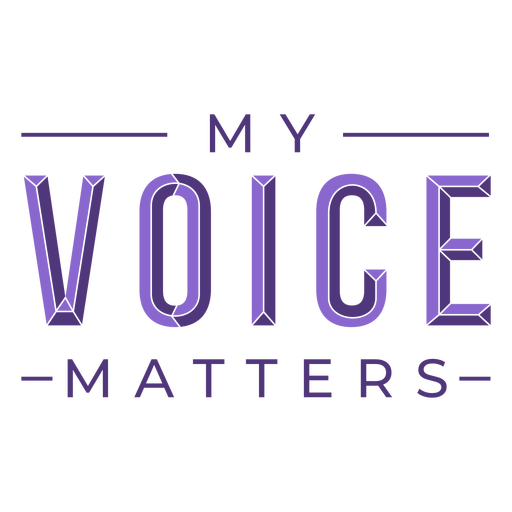 Womens day voice matters lettering
