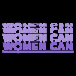 Día de la mujer las mujeres pueden rotular