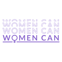 Womens day women can lettering