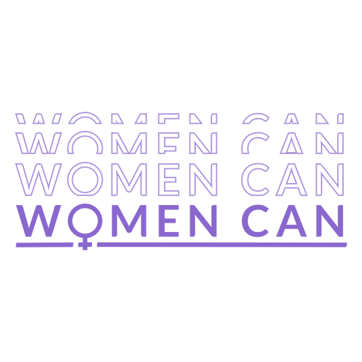 Womens day women can lettering Transparent PNG