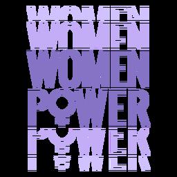 Letras del poder de las mujeres del día de las mujeres