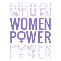 Womens day women power lettering