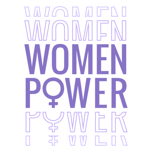Womens day women power lettering Transparent PNG