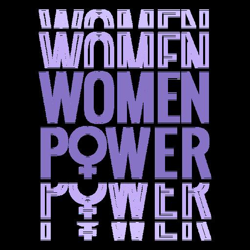 Womens day women power lettering