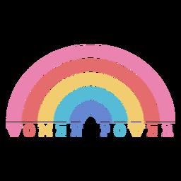 Letras de poder do arco-íris para mulheres no Dia da Mulher