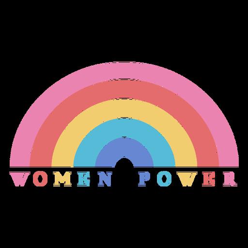 Letras del arco iris del poder de las mujeres del día de las mujeres Transparent PNG