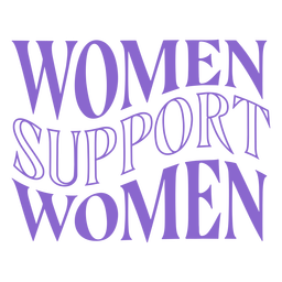 Womens day women support lettering
