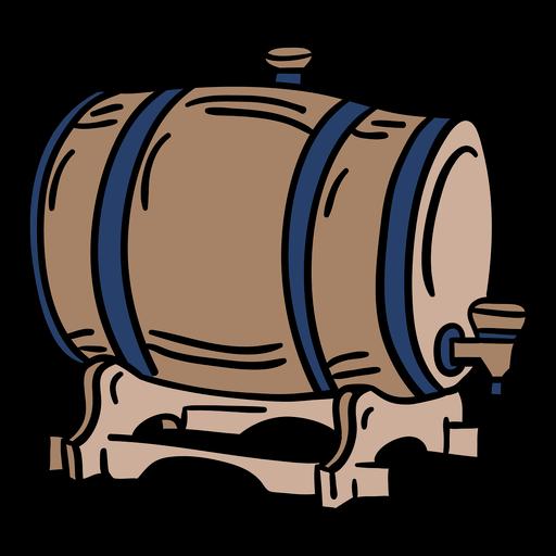 Barril de cerveza de madera dibujado a mano Transparent PNG