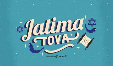 Diseño de letras de Jatima Tova