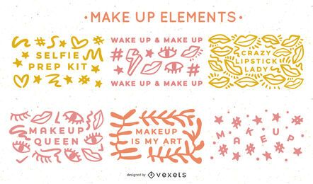 Makeup Elements Design Pack